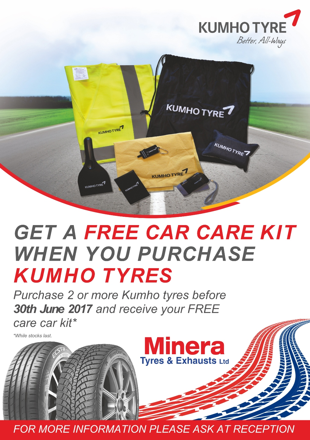 Kumho Car Care Kit offer
